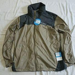 Men's Columbia Windbreaker Jacket w Hood Size XL